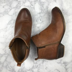 Lucky Brand | Basel Brown Leather Ankle Boots